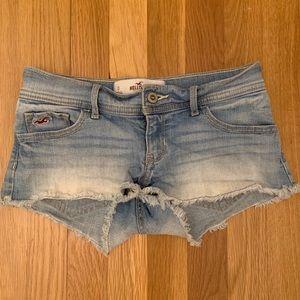 Denim fade shorts